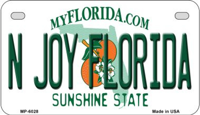 N Joy Florida Novelty Metal Motorcycle Plate MP-6028
