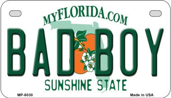 Bad Boy Florida Novelty Metal Motorcycle Plate MP-6030