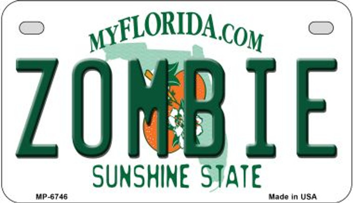 Zombie Florida Novelty Metal Motorcycle Plate MP-6764