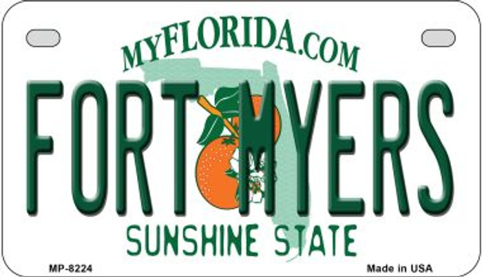 Fort Myers Florida Novelty Metal Motorcycle Plate MP-8224