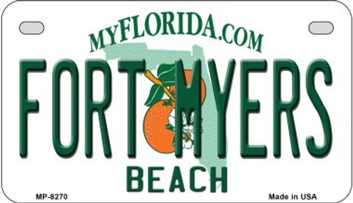 Fort Myers Beach Florida Novelty Metal Motorcycle Plate MP-8270