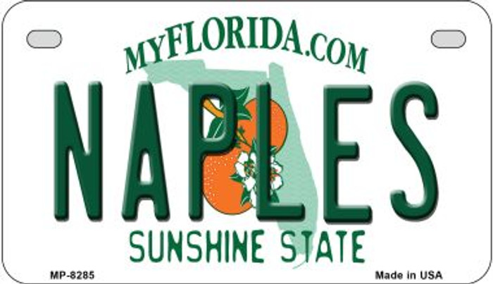 Naples Florida Novelty Metal Motorcycle Plate MP-8285