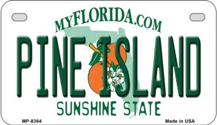 Pine Island Florida Novelty Metal Motorcycle Plate MP-8364