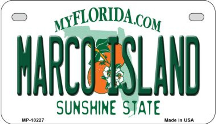 Marco Island Florida Novelty Metal Motorcycle Plate MP-10227