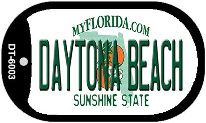 Daytona Beach Florida Novelty Metal Dog Tag Necklace DT-6003