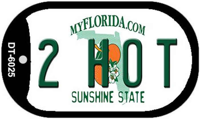 2 Hot Florida Novelty Metal Dog Tag Necklace DT-6025