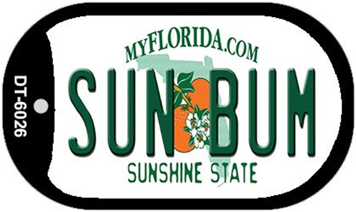 Sun Bum Florida Novelty Metal Dog Tag Necklace DT-6026