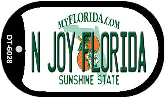 N Joy Florida Novelty Metal Dog Tag Necklace DT-6028