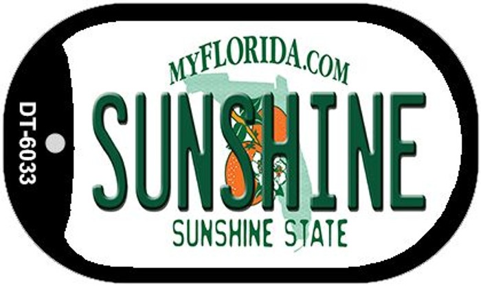 Sunshine Florida Novelty Metal Dog Tag Necklace DT-6033