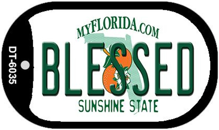 Blessed Florida Novelty Metal Dog Tag Necklace DT-6035