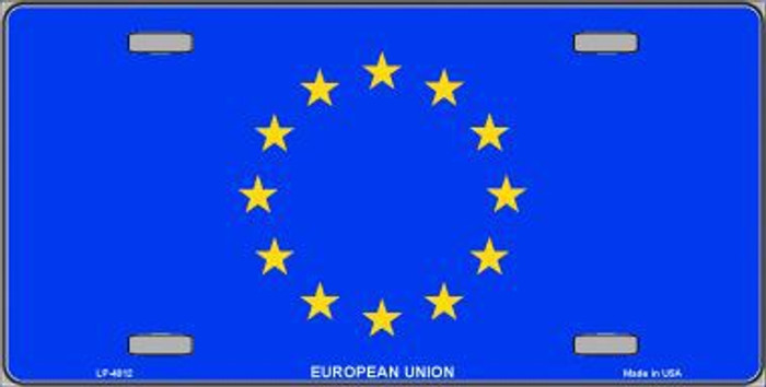 European Union Flag Metal Novelty License Plate LP-4012