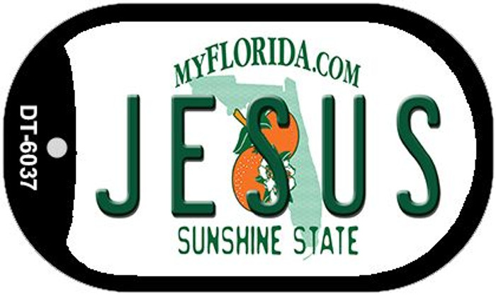Jesus Florida Novelty Metal Dog Tag Necklace DT-6037
