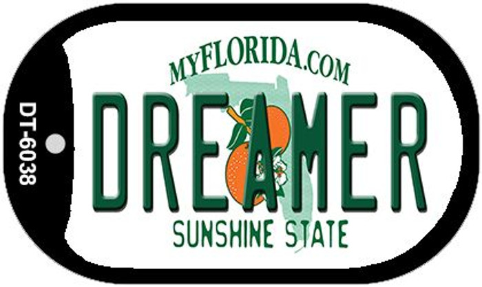 Dreamer Florida Novelty Metal Dog Tag Necklace DT-6038