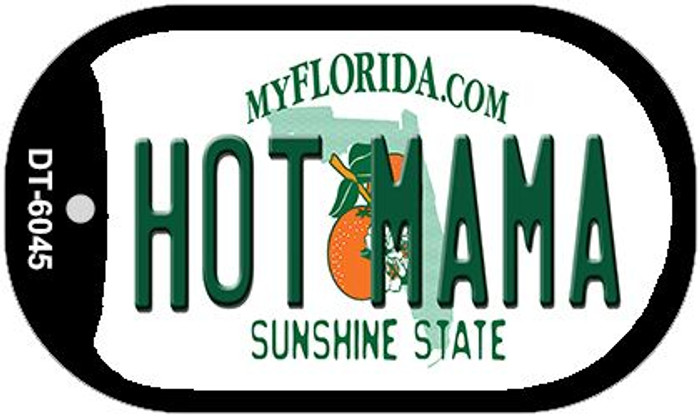 Hot Mama Florida Novelty Metal Dog Tag Necklace DT-6045