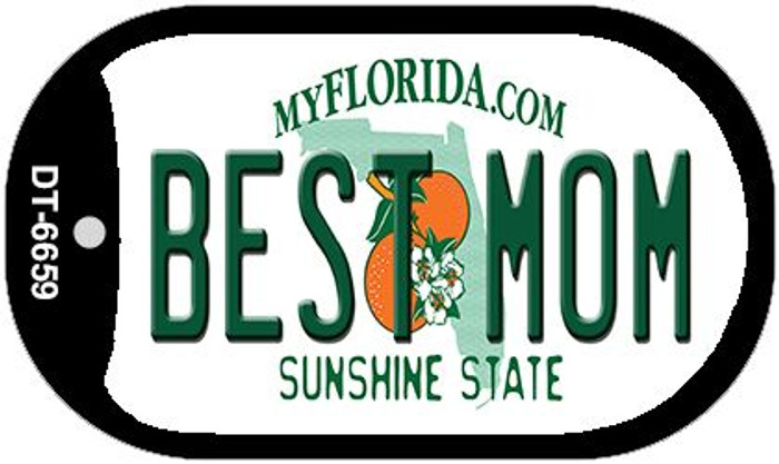 Best Mom Florida Novelty Metal Dog Tag Necklace DT-6659