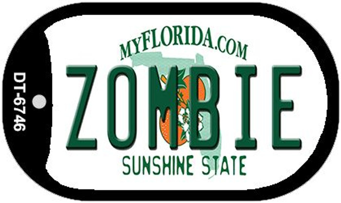 Zombie Florida Novelty Metal Dog Tag Necklace DT-6764