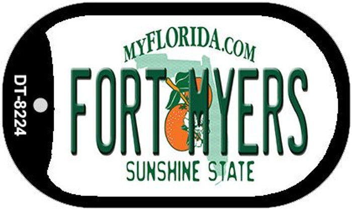 Fort Myers Florida Novelty Metal Dog Tag Necklace DT-8224