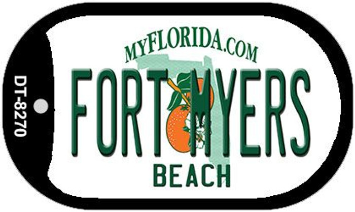 Fort Myers Beach Florida Novelty Metal Dog Tag Necklace DT-8270
