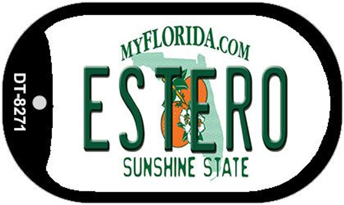 Estero Florida Novelty Metal Dog Tag Necklace DT-8271
