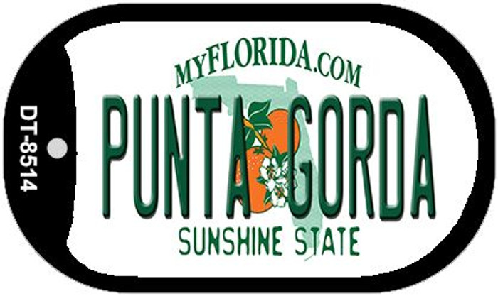 Punta Gorda Florida Novelty Metal Dog Tag Necklace DT-8514