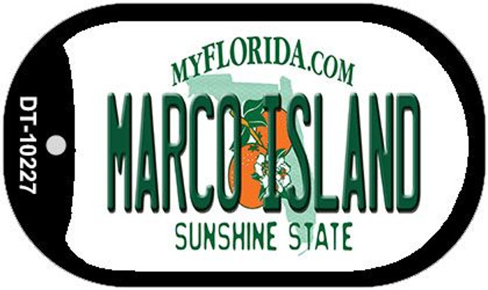 Marco Island Florida Novelty Metal Dog Tag Necklace DT-10227