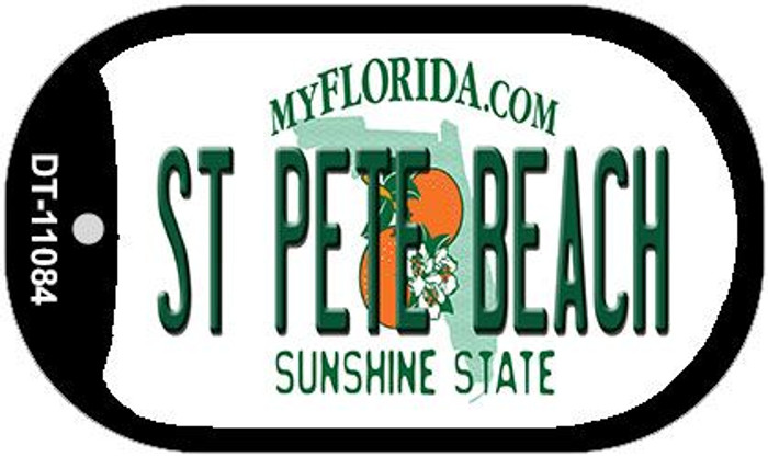 St Pete Beach Florida Novelty Metal Dog Tag Necklace DT-11084
