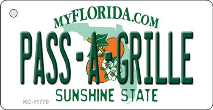Pass A Grille Florida Novelty Metal Key Chain KC-11770