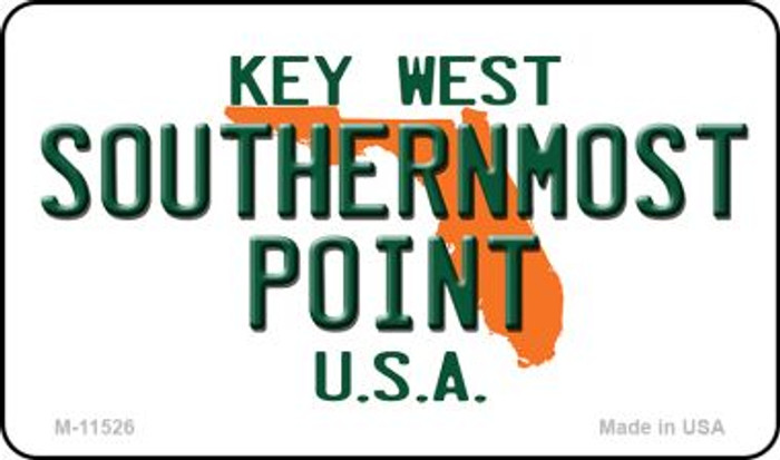 Southernmost Point Florida Novelty Metal Magnet M-11526