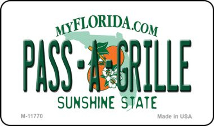 Pass A Grille Florida Novelty Metal Magnet M-11770