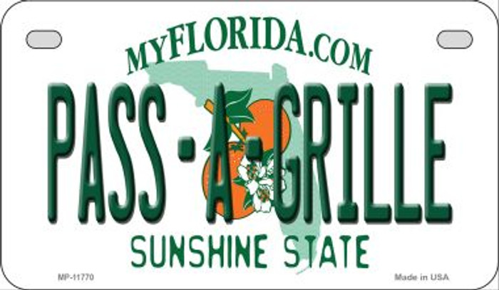 Pass A Grille Florida Novelty Metal Motorcycle Plate MP-11770