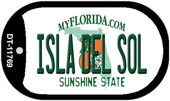 Isla Del Sol Florida Novelty Metal Dog Tag Necklace DT-11769