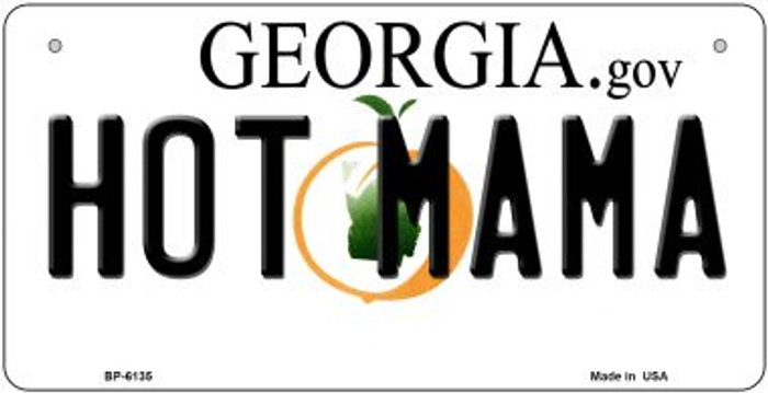 Hot Mama Georgia Novelty Metal Bicycle Plate BP-6135