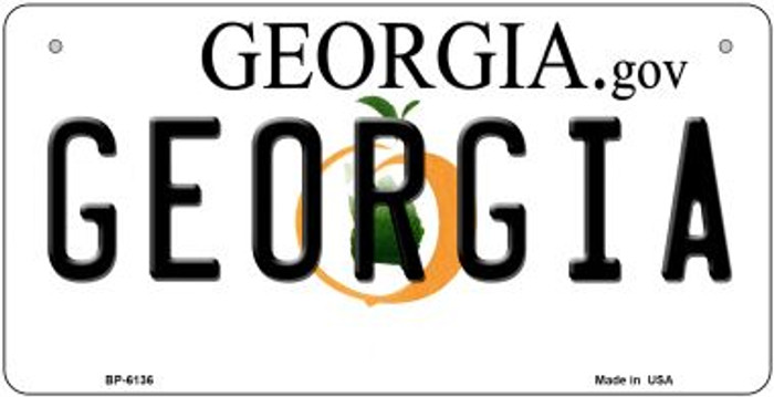 Georgia Novelty Metal Bicycle Plate BP-6136