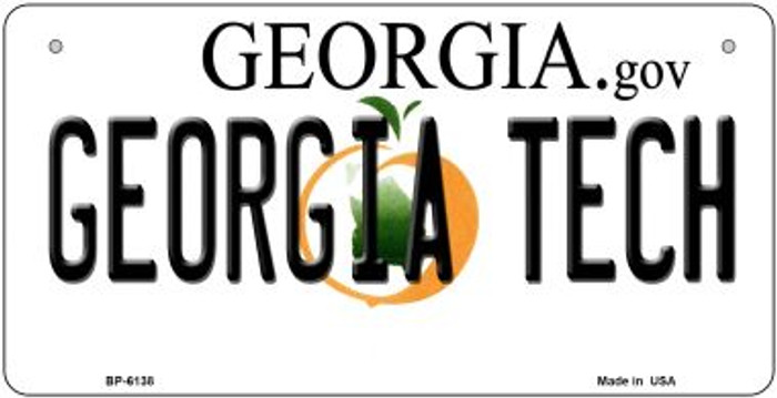 Georgia Tech Novelty Metal Bicycle Plate BP-6138