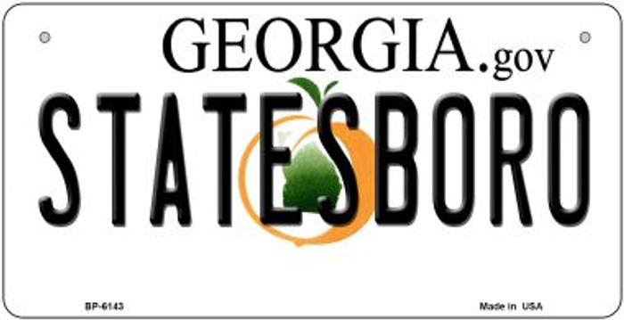 Statesboro Georgia Novelty Metal Bicycle Plate BP-6143