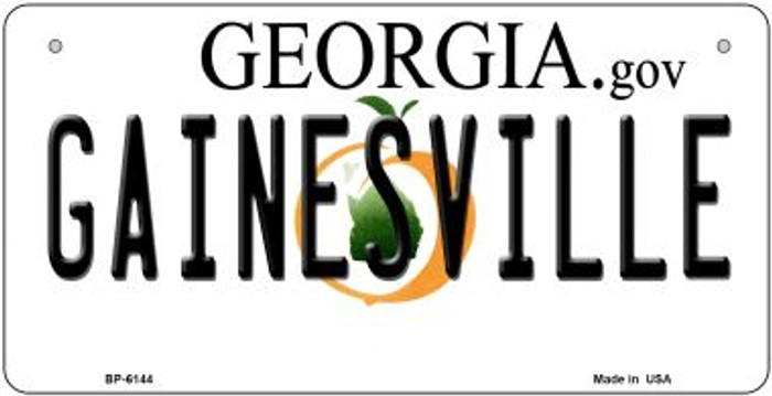 Gainesville Georgia Novelty Metal Bicycle Plate BP-6144