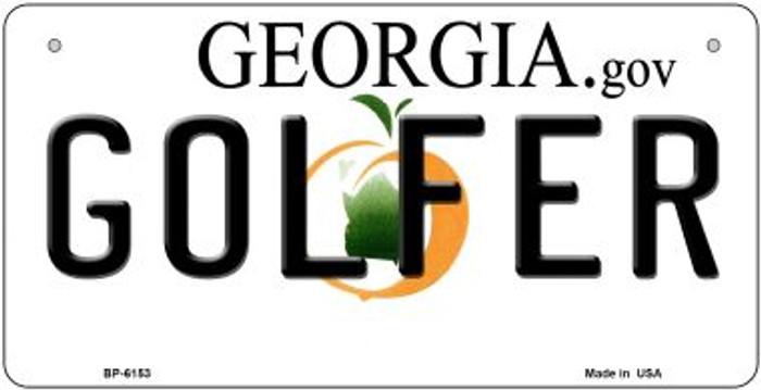 Golfer Georgia Novelty Metal Bicycle Plate BP-6153