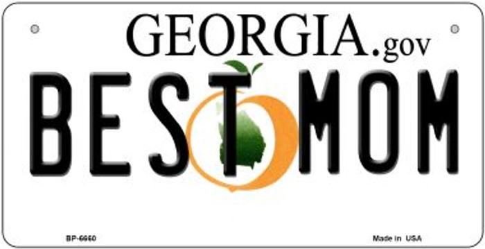 Best Mom Georgia Novelty Metal Bicycle Plate BP-6660