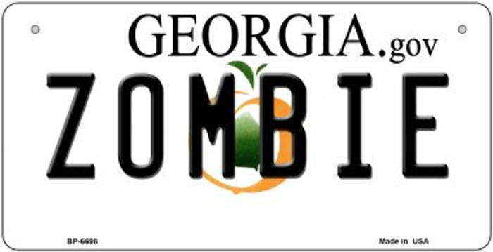 Zombie Georgia Novelty Metal Bicycle Plate BP-6698