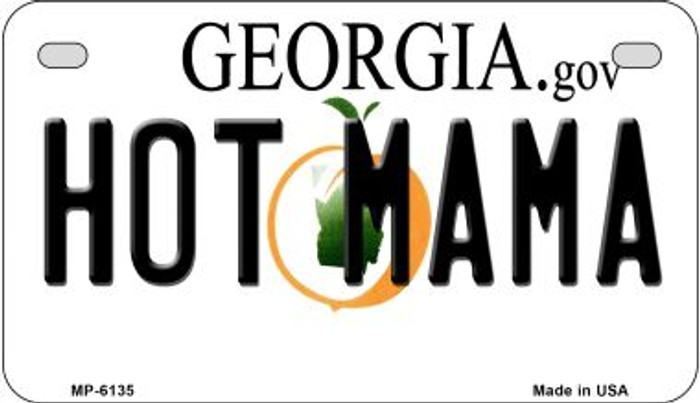 Hot Mama Georgia Novelty Metal Motorcycle Plate MP-6135