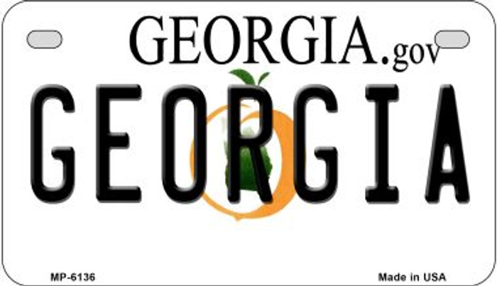 Georgia Novelty Metal Motorcycle Plate MP-6136