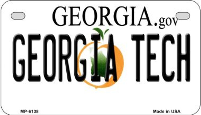 Georgia Tech Novelty Metal Motorcycle Plate MP-6138