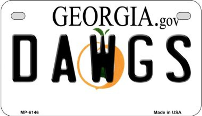 Dawgs Georgia Novelty Metal Motorcycle Plate MP-6146