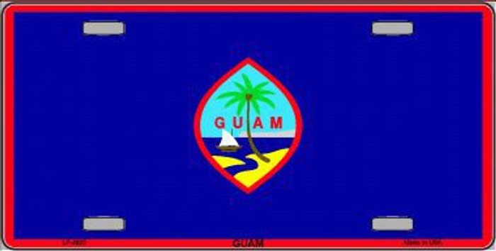 Guam Flag Metal Novelty License Plate LP-4022