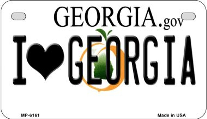 I Love Georgia Novelty Metal Motorcycle Plate MP-6161