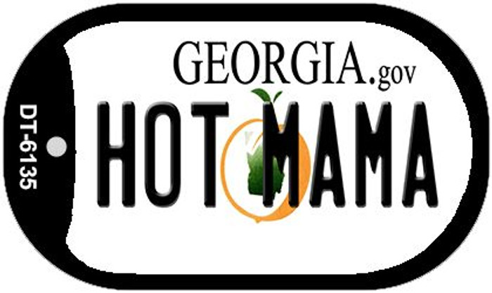 Hot Mama Georgia Novelty Metal Dog Tag Necklace DT-6135