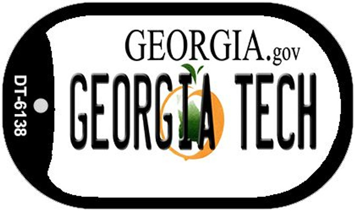 Georgia Tech Novelty Metal Dog Tag Necklace DT-6138