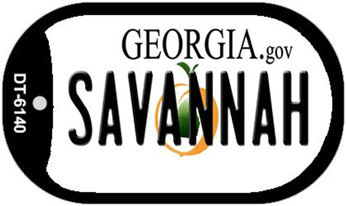Savannah Georgia Novelty Metal Dog Tag Necklace DT-6140