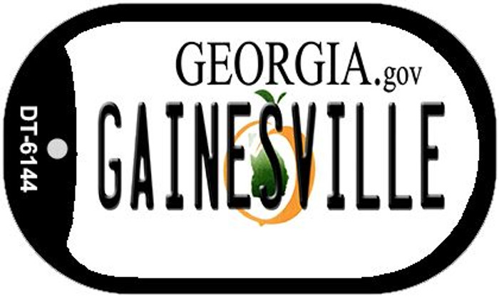 Gainesville Georgia Novelty Metal Dog Tag Necklace DT-6144