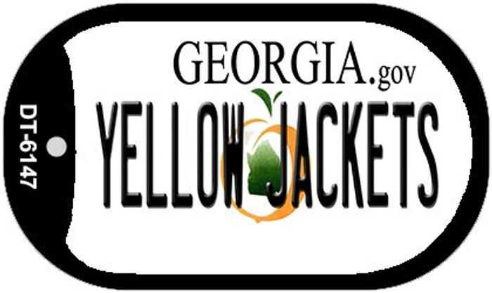Yellow Jackets Georgia Novelty Metal Dog Tag Necklace DT-6147
